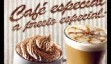 Menú cafés especiales