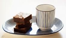 Brownie de café de avellana y chocolate