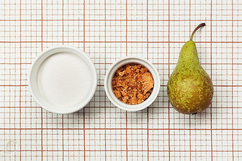 Polos de infusión de mango y pera: ingredientes