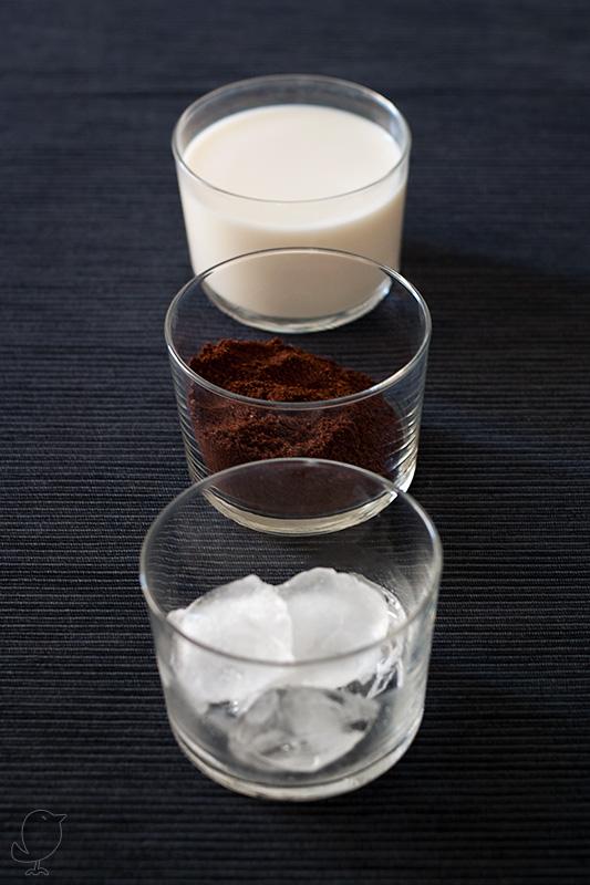 ingredientes para el café frappé